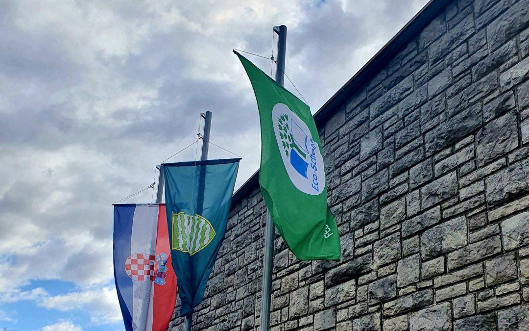 Podizanje eko zastave Međunarodnog programa Ekoškole