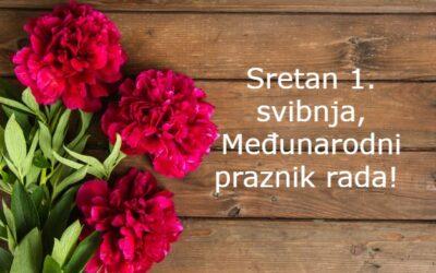 """Čestitamo 1. svibnja, Međunarodni praznik rada i 26. obljetnicu vojno-redarstvene operacije """"Bljesak"""""""